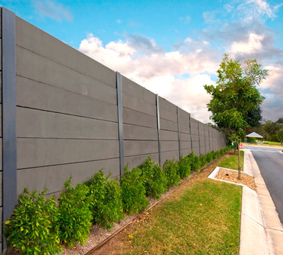 Aussie Concrete Smooth Charcoal 2000x200x75mm Sleeper Retaining Wall