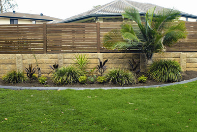 Aussie Concrete Sandstone Effect 2000x200x75mm Sleeper Retaining Wall