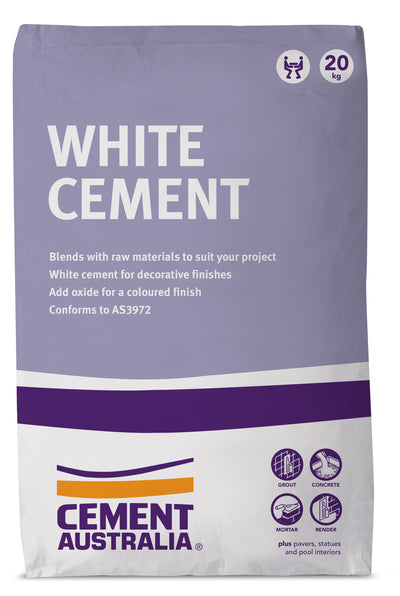CEMENT AUSTRALIA WHITE CEMENT 20KG BAG