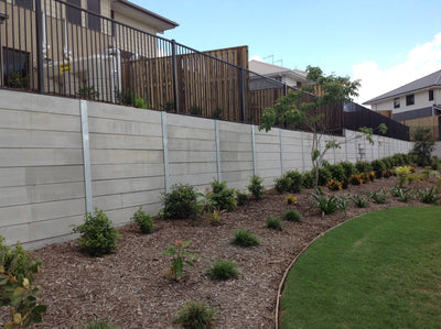 Austral Masonry Smooth Grey 2400x200x75mm Sleeper Retaining Wall