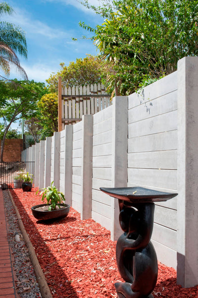 Aussie Concrete Smooth Grey 2400x200x75mm Sleeper Retaining Wall