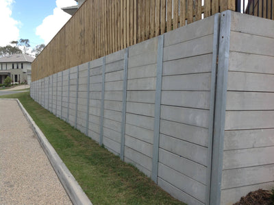 Austral Masonry Smooth Grey 2000x200x75mm Sleeper Retaining Wall