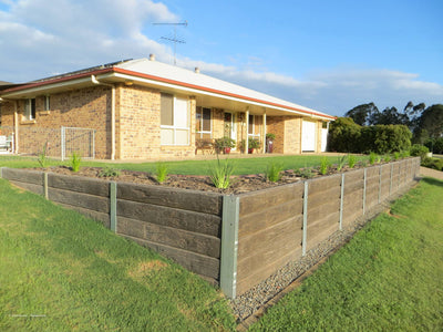Aussie Concrete Ironbark 2000x200x75mm Sleeper Retaining Wall