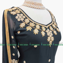 Load image into Gallery viewer, Black Handwork Kurtha