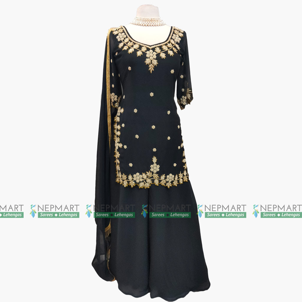 Black Handwork Kurtha