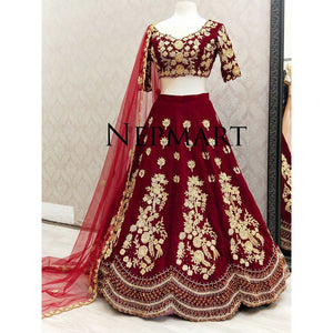 Red Velvet Bridal Lehegna