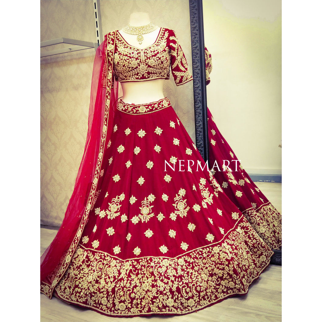 Red lehenga Set