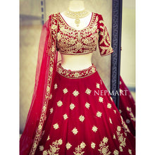 Load image into Gallery viewer, Red lehenga Set