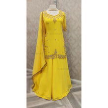 Load image into Gallery viewer, Yellow Handwork Kurtha