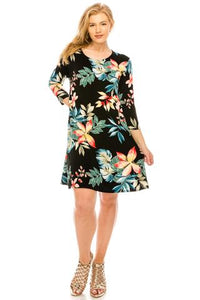 Women's Black Floral Dress