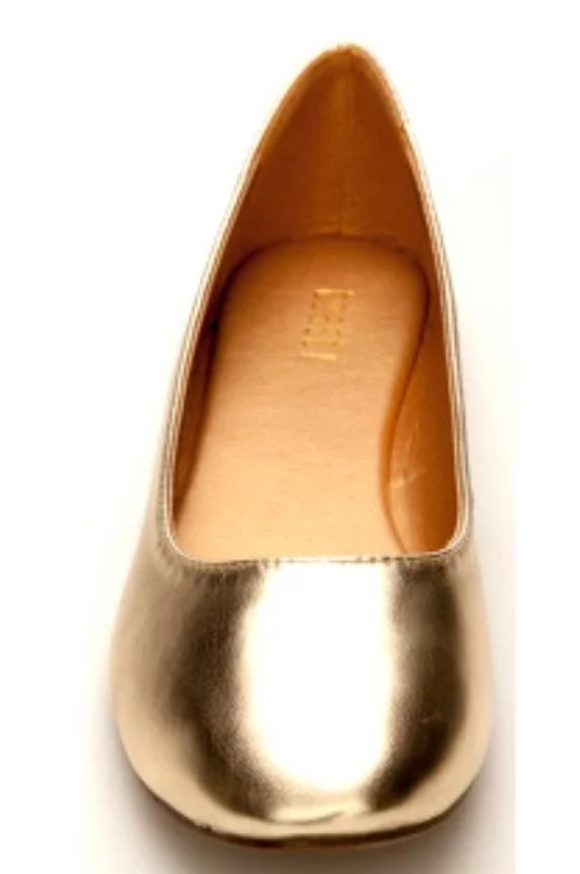 Women's Metallic Gold Flats
