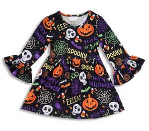 Black Halloween Girls Dress