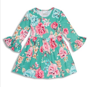 40d905dc7 Girls Mint Floral Dress – Jaysyn Hope