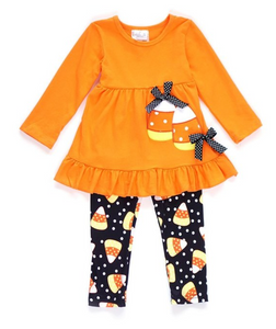 Halloween Candy Corn Girls Outfit