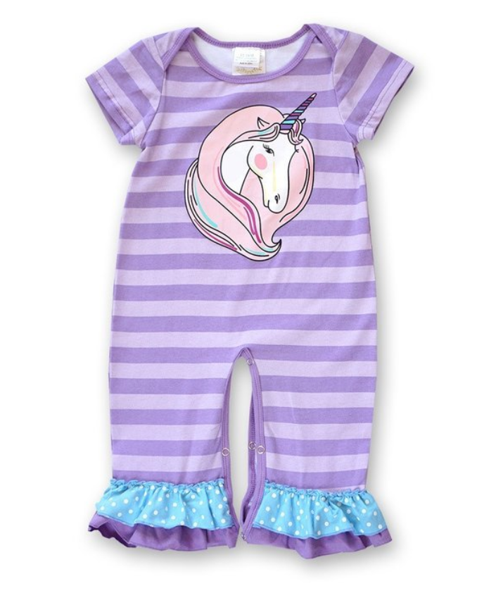 c6240b3015bf Purple Unicorn Baby Romper – Jaysyn Hope