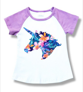 Floral Unicorn T-Shirt