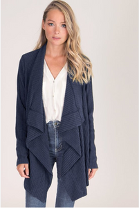 Womens Navy Cardigan