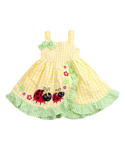 Baby Lady Bug Dress with Bloomers