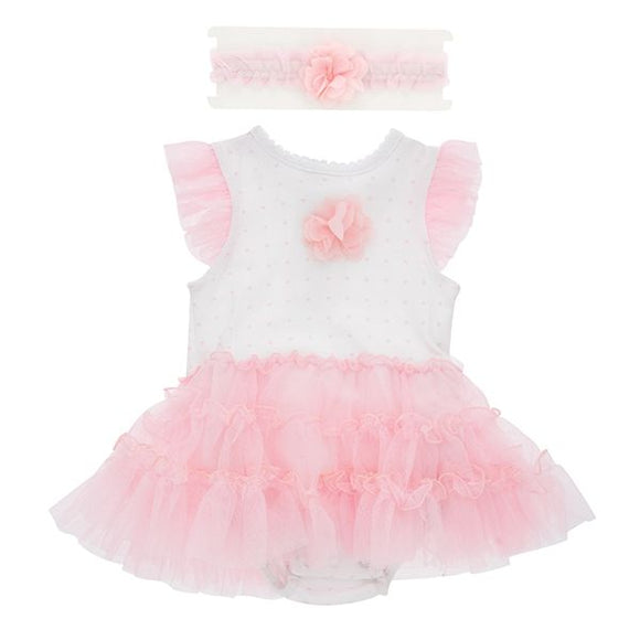 Baby Tutu Bodysuit with Headband
