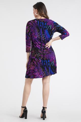 Women's Purple Long Sleeved Dress
