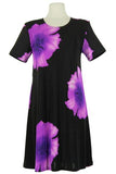 Women's Floral Short Sleeved Dress - 3 color options