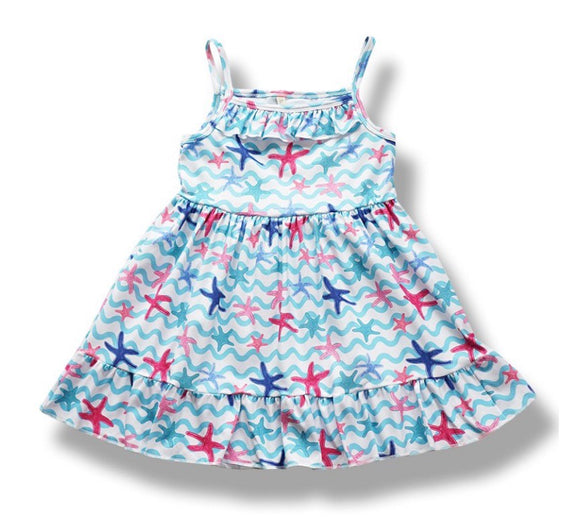Girls Dress - starfish