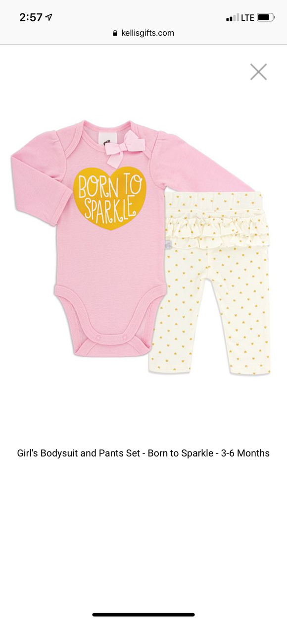 Baby Outfit - Born to Sparkle