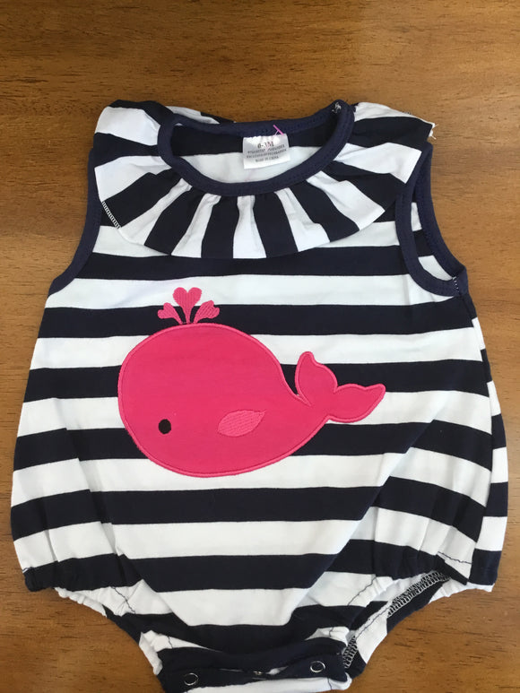Infant romper with whale