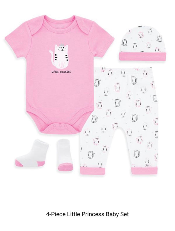 Baby Onesie 4 piece set -Kitties