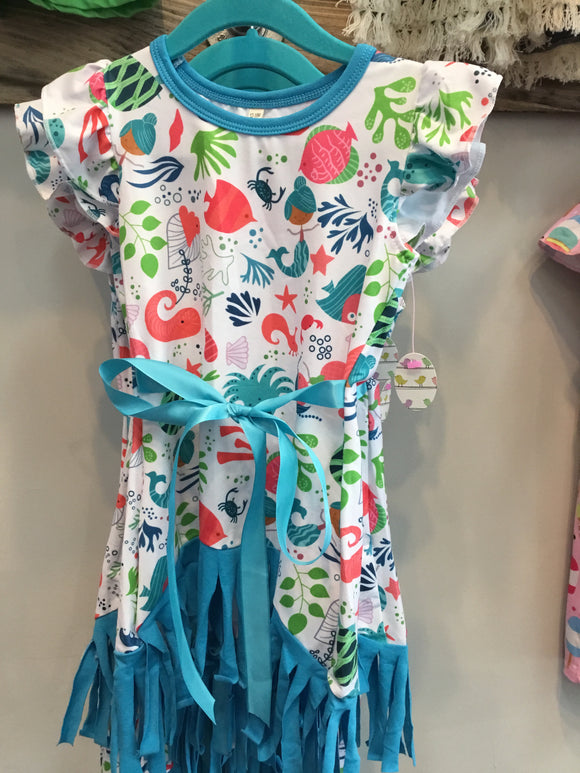 Ultra soft mermaid under the sea dress