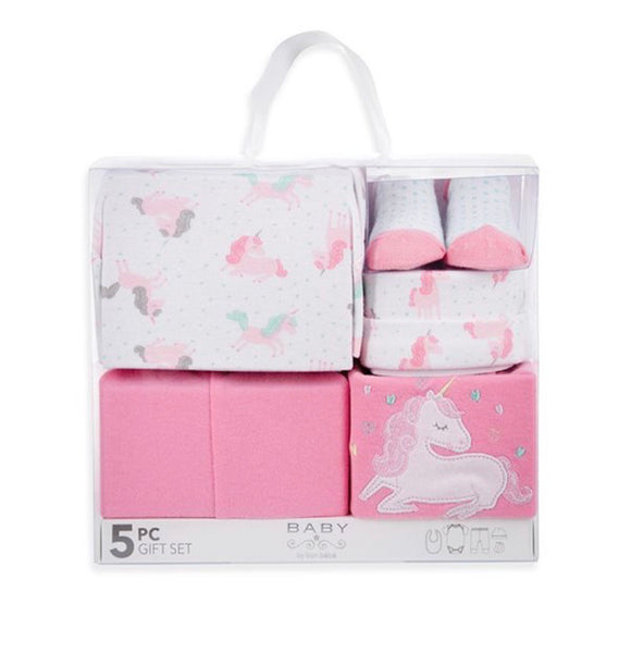 Baby Box Set - 5 piece Pink Unicorns