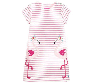 Girls dress - Flamingo