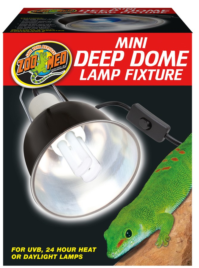 Zoo Med Mini Deep Dome Light Fixture - Northern Reptile Feeders