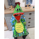 Hooded Shower/Beach Towels - Dino