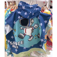 Hooded Shower/Beach Towels - Spaceman