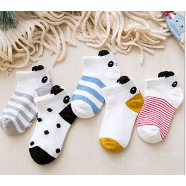 Socks for Toddler (Set of 5) - Design 1