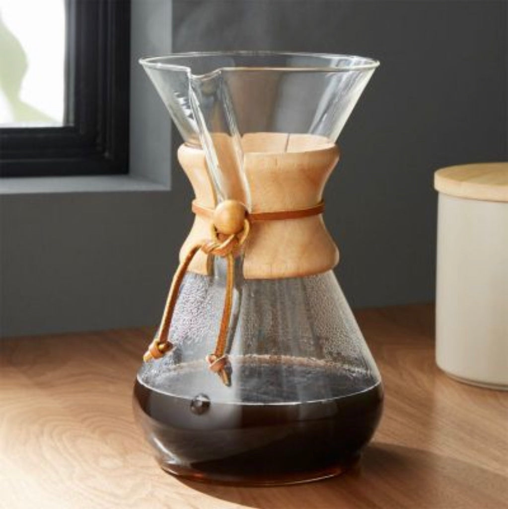 Brewing in a Chemex Coffee Maker