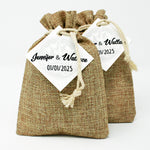 Burlap Coffee Favor
