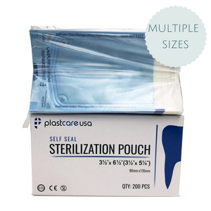 Self-Sealing Sterilization Pouch, Paper/Blue Film - (200/Box)