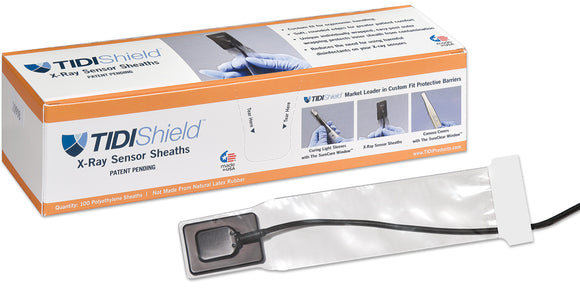 TIDIShield X-Ray Sensor Sheaths for Dexis - 100 Universal Polyethylene Sheaths
