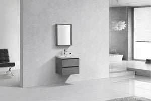 IVANNA-PRE Wall Mount Vanity with White Sink