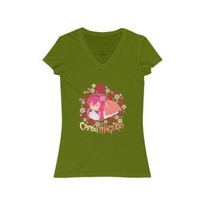 Candy Maguro - Women's V-Neck T-Shirt - Ninja Division