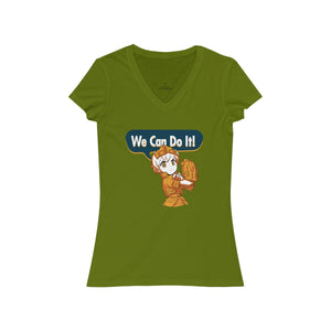 We Can Do It! - Women's V-Neck T-Shirt - Ninja Division