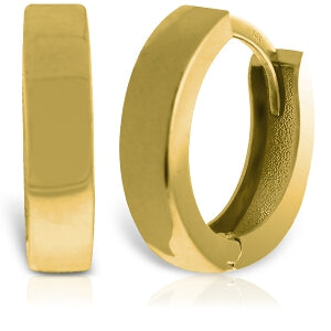 14K Solid Yellow Gold Glorietta Huggie Earrings