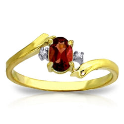 0.46 Carat 14K Solid Yellow Gold Shatter Me Night Garnet Diamond Ring