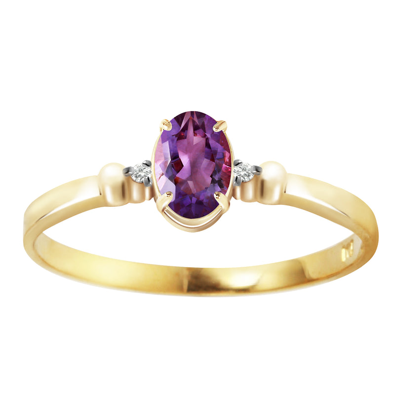 0.46 Carat 14K Gold Don't Resist Amethyst Diamond Ring