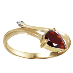 0.83 Carat 14K Gold Sea Of Possibilities Garnet Diamond Ring