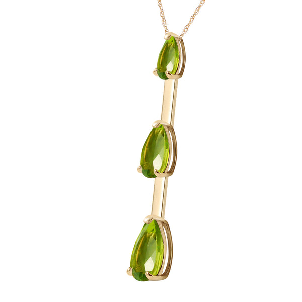 1.71 Carat 14K Solid Yellow Gold Earth's Answer Peridot Necklace