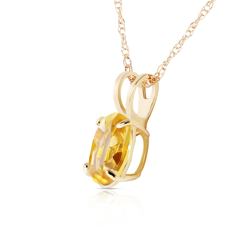 0.85 Carat 14K Gold Edge Of Reason Citrine Necklace