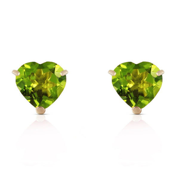 3.25 Carat 14K Solid Yellow Gold La Vie En Rose Peridot Earrings